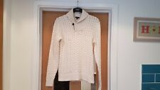 SIZE MEDIUM GAP CABLE JUMPER COTTON ACRYLIC CREAM LONG SLEEVES