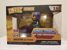 Masters of the Universe Skeletor w/ Panthor Flocked Dorbz Ridez Funko SDCC RARE