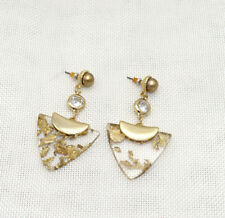 """Fashion 2.6""""*1.4""""Gold Plated Acrylic Pearl Stud Chandelier Earrings"""