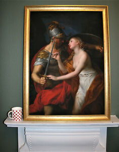 Old Masters Giclee on canvas Peace and War by Girolamo Batoni 33.5x25in Framed