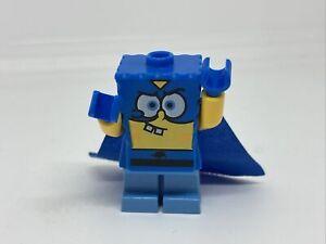 LEGO SpongeBob SquarePants Super Hero Minifigure From 3815 Buck Teeth Blue Cape