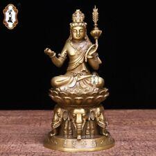 """6"""" Asian Antique Tibet Handmade bronze Samantabhadra Bhodisattva Statues"""