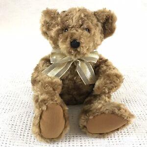 Avon 2002 Talk to Me teddy Bear Gold Bow Responds to Voice *WORKS*