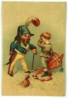 Boy Kite Enterprise Tea Co 622 Hudson Street NY New York Victorian Trade Card