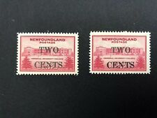 Newfoundland Stamps 1946 2c Surcharge Memorial University College MNH