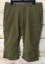 37c57c7e43a Eastern Mountain Sports EMS Wmns Flat Front Capri Cargo Nylon Outdoor Pants  12