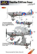 LF Models Decals 1/72 DEWOITINE D.500 Fighter over France