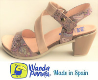 Heel Sandals Leather. Wanda Panda Shoes Made in Spain - Wandar