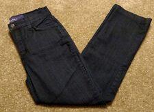 Not Your Daughters Jeans NYDJ Size 2 Denim Dark Wash Blue Midrise Lift Tuck EUC