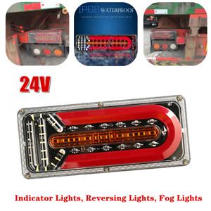 Trailer Truck Bus Taillight Brake Fog Light Turn Signal Indicator Waterproof 24V