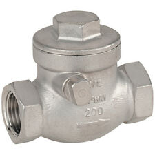 "316 STAINLESS STEEL VALVES - 1"" BSP 316 ST/ST SWING CHECK VALVE 7-01835"