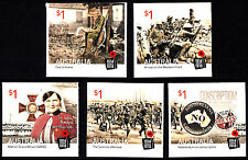 Australia 2016 Centenary of WWI: 1916 Complete Set of Stamps S/A Ex Booklet