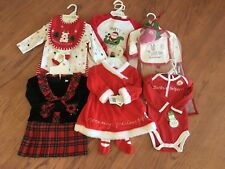 LOT OF 6 NWT VARIOUS INFANT & TODDLER CHRISTMAS OUTFITS! Unbelievable value!