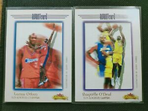 SHAQUILLE O'NEAL 2000-01 FLEER SHOWCASE AVANT Card Lamar Odom */201 LA Lakers SP