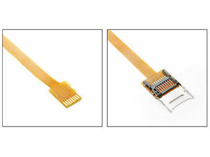 Jimier  Micro SD TF Memory Card Kit Male to Female Extension Flat FPC Extender
