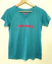 HEAD womens blue Tennis short sleeve shirt size L
