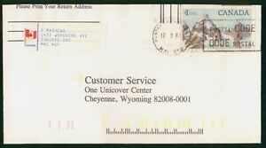 Mayfairstamps Canada 1981 to 1 Unicover Center WY Snow Covered Mountains Cover w