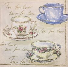 2 single paper napkins for Decoupage Crafts Collection Cup tea cups coffee