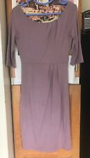 L K BENNETT Soft pink Jersey smart midi dress size 10 VGC