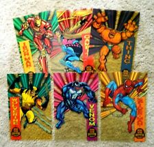 1994 Marvel Universe Suspended Animation JUMBO PRINTS SET (6)