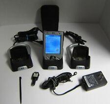 New listing Hp iPaq H2200 Microsoft Windows Pocket Pc 2003 w/ 2 Cradles Cable & Case