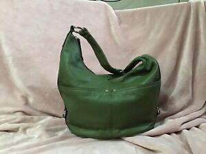 Tignanello Leather Hobo Shoulder Bag, Green, Beautiful Condition