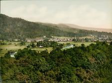 Perth. Callander. General view. Vintage photochrome, England photochromie, vin