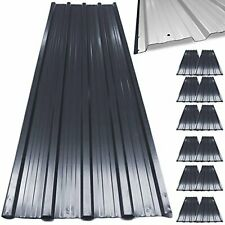 12x Roof Sheets Garage Shed Galvanized Corrugated Metal Roofing 129x45cm UK