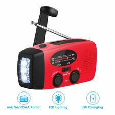 Emergency Solar Hand Crank Dynamo AM/FM/WB/NOAA Weather Radio LED Torch Charge