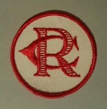 "Cr/Rc Patch Round 3"" Diameter Circular Never Been Sewn Rc/Cr Circle White Red"