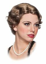Ladies 1920's Greatta Wig Female Brown Flapper old grandma headpeice