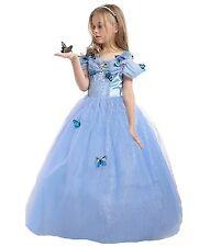 UK ELSA & ANNA® Girls Party Outfit Fancy Dress Snow Queen Princess Halloween 5-6