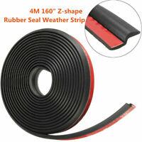"""4M Z-shape Car Window Door Rubber Seal Weather Strip Hollow Weatherstrip 160"""""""