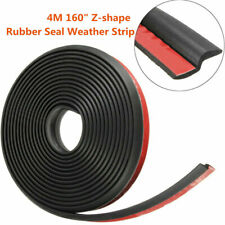 4M Z-shape Car Window Door Rubber Seal Weather Strip Hollow Weatherstrip 160""