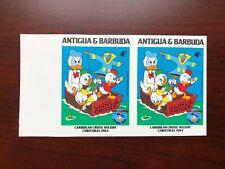 RARE Antigua & Barbuda 1984 SC #811 Imperf Pair Donald Duck Caribbean Cruise MNH