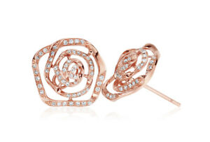 NEW Official Welsh Clogau 9ct Rose Gold Royal Roses Earrings £200 OFF!