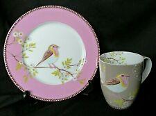 Assiette à gâteau et tasse à thé mug décor oiseau PiP Home