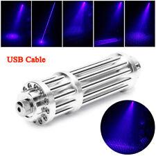 7.4V 5 MW 445nm Blue Laser Pen Pointer Stern Militar Burning Focus Beam Light EU