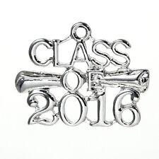 5 2016 Graduation Cap charms, 2016 graduation charm, diploma, 26x20mm chs2394