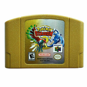 Pokemon Stadium 2 Video Game Cartridge Console Card For N64