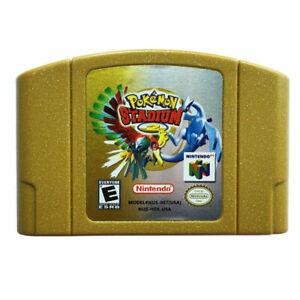 Pokemon Stadium 2 Video Game Cartridge Console Card For Nintendo 64 N64