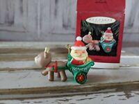 Vintage Hallmark Keepsake 1994 Nephew with Santa and Reindeer Christmas Ornament