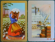 Lady Hauls Cotton & Loading Dock African Black Americana Vintage Swap Play Cards