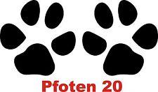 Pfoten 20,Hunde,Katzen,Tatze,Tatzen,Aufkleber,Autoaufkleber,Wandtattoo,je 10 cm