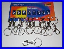 12 SMALL METAL HIPSTER  KEYRINGS NEW WHOLESALE CRAFTS