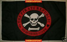 3'x5' Pirate Republic Jolly Roger Flag Skull No Quarters Given Crossbones 3X5