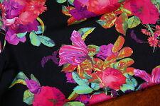 5m x 1.6m - 'PALM COVE' FLORAL Print Lycra Fabric - Swimwear, Maxi Dresses
