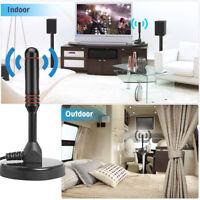 Antena Portátil con Base para TV Digital Caravana DVB-T DAB Alta Definición HDTV