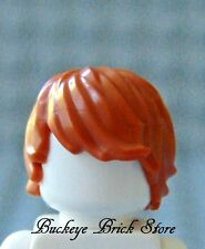 NEW Lego Male Dark ORANGE HAIR Tousled Side Part - Harry Potter Agents
