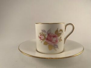 Aynsley Coffee Cup and Saucer Pink Rose